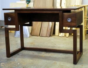 Clear Desk in American Walnut