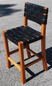 Cherry & Bridle Leather Bar Stools