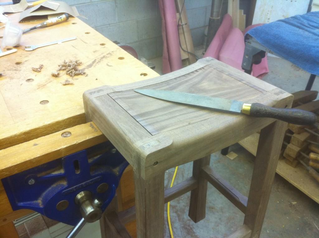 Saddle Seat Bar Stools Shaping