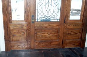 Oak entry door